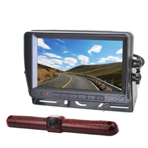 Vardsafe Universal Brake Light Rear View Reversing Backup Camera + 7 Inch TFT LCD Monitor for RV / Cargo Van / Bus