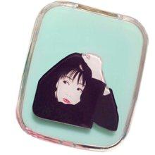 Elegant Lady Pattern Contact Lenses Case Nursing Holder, Random Color