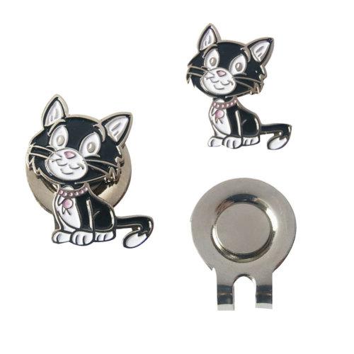 Magnetic Cute Animal Cat Pattern Golf Cap Clip Marker