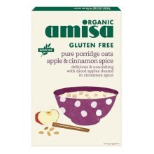 Amisa Organic Gluten Free Porridge Oats with Apple & Cin