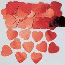 Hearts Red Jumbo Mettallic Confetti 14g -