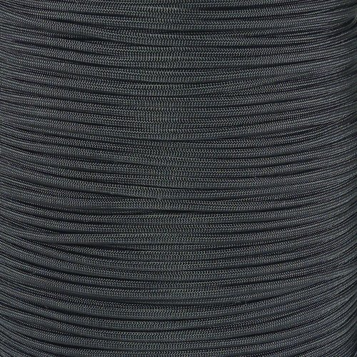 PARACORD PLANET 25 550lb Type III Black Paracord