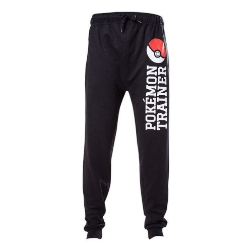 Pokemon Trainer Elasticated Tracksuit Trousers - Black XL  (ZP040548POK-XL)