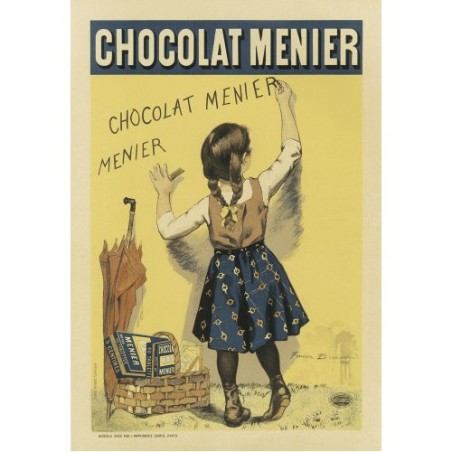 Advertising poster - Chocolat Menier - High definition printing on stainless steel plate