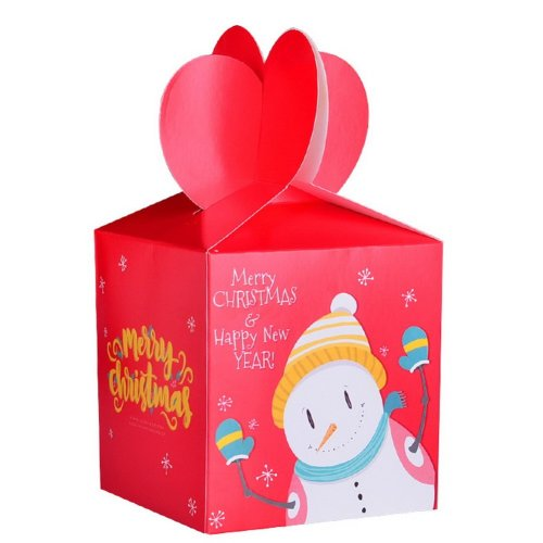 10 Decorative Creative Christmas Gift Boxes Red Snowman