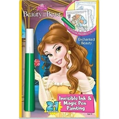 Lee Publications Disneys Beauty and the Beast Enchanted Beauty Invisible Ink && Magic Pen Painting