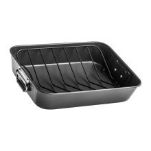 Non Stick Roasting Pan with V Shaped Rack