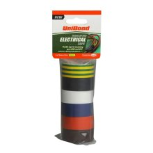 UniBond Insulating Electrical Tape Multi, 19 mm x 3.5 m - Pack of 6
