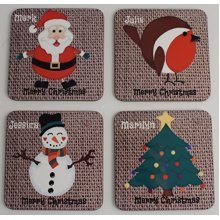 Personalised Christmas Gift Coaster