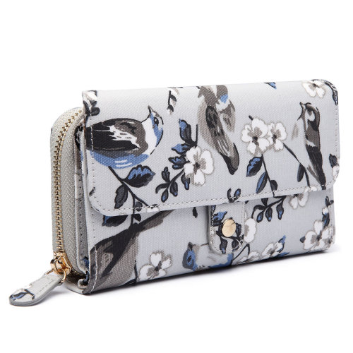 Miss Lulu Women Flower Bird Purse Wallet Clutch Bag