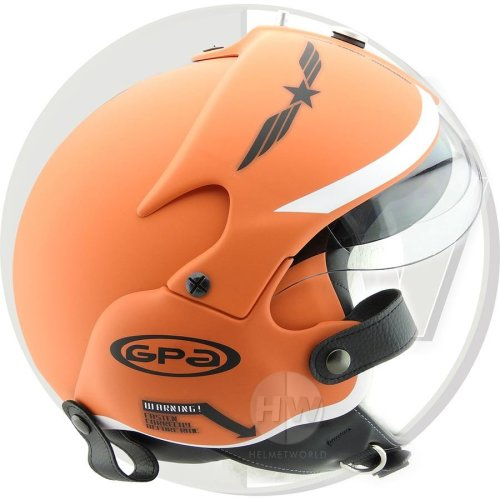 Open Face Scooter Helmet Osbe Gpa Aircraft Tornado Orange Army Xs 53-54 Cm