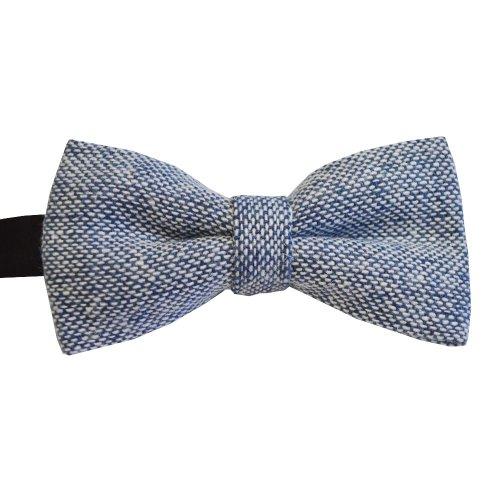 Blue Tweed Bow Tie #BWW108/3