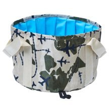 15L Portable Folding Wash Basin Leak-proof Foldable Bucket Footbath Basin with Carrying Pouch #18