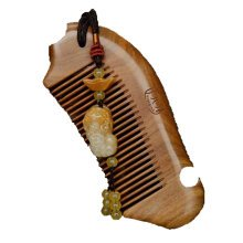 Green sandalwood comb massage comb wide-tooth curls Chinese Traditional Comb