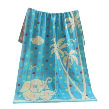 "Baby/Kids Cotton Bath Rug Breathable Bath Towel Summer Cover Blanket 27.55""x55.11""(Coconut Trees)"