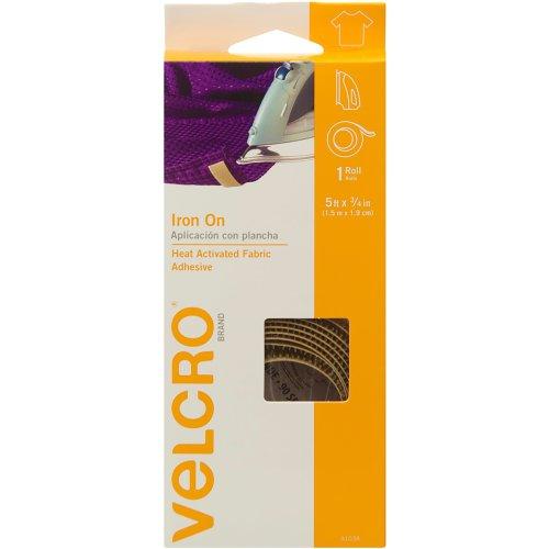 """VELCRO(R) Brand Iron-On Fabric Tape .75""""X5'-Beige"""