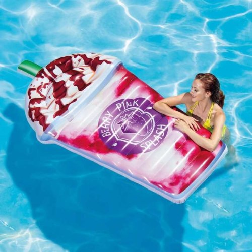 Intex 58777 Milkshake inflatable floating mattress for the pool or beach  BERRY PINK