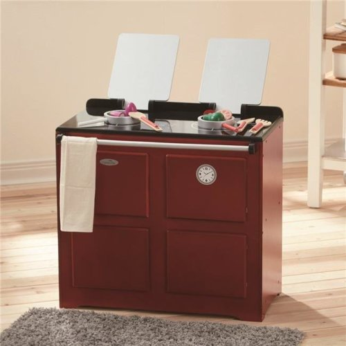 Teamson Kids TD-12431R Little Chef Newport Classic Play Kitchen, Red