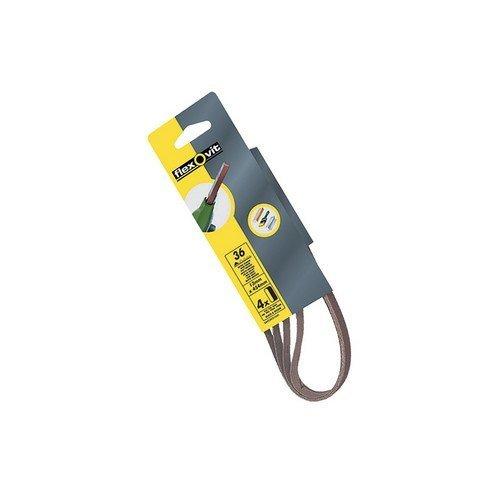 Flexovit 63642526439 Powerfile Sanding Belt 454mm x 13mm Medium 80g Pack of 4