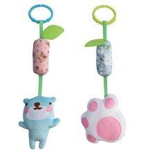 2PCS, Cute Hanging Plush Crib Toys, Handmade Decor Stroller Toys