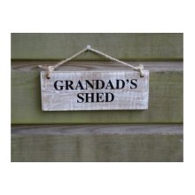 Grandad's Shed Wooden Garden Sign