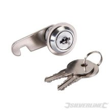 32mm Nickel Plated Cam Lock - Silverline 218311 -  cam lock 32mm silverline 218311
