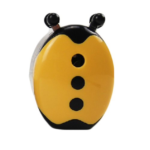 Lovely Ladybird Manual Pencil Sharpener for Office and Classroom (Yellow/Black)