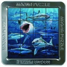 3d Magna Sharks Magnetic Jigsaw Puzzle (16 Pieces)