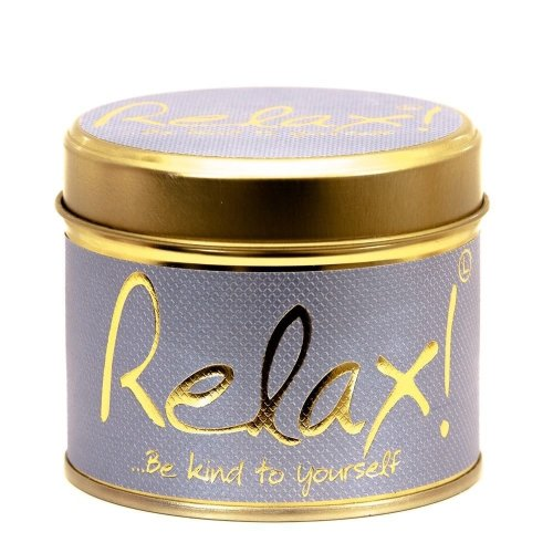 Lily Flame Candle in a Tin - Relax!