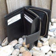 Ladies Womens REAL GENUINE Leather Wallet Purse Metal Zip Bifold