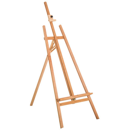 HOMCOM A-Frame Wooden Professional Floor Studio Easel for Painting Holder Sketching Table Art Display Exhibition