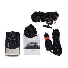 "4"" Dual Lens HD 170° 1080P Car DVR Video Dash Cam Recorder G-Sensor"