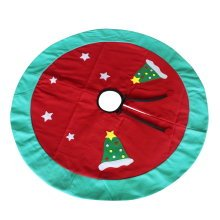 [Red and Stars] Christmas Party Decorative Tree Skirt Durable Tree Skirt