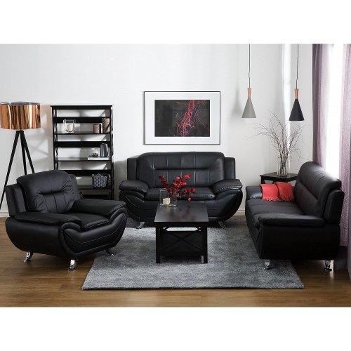 3 Seater Leather Sofa LEIRA