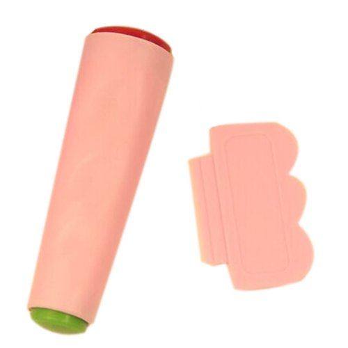 2 PCS Facilitative Nail Art Double Ended Stamper Sets, Pink