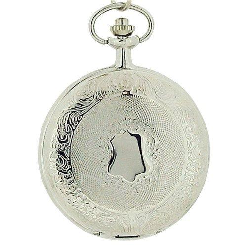 Jakob Strauss Silver Tone Gents Pocket Watch & 12 Inch Chain JAST15