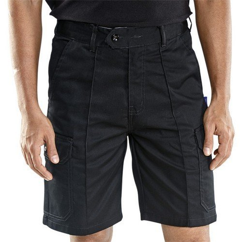 """Click CLCPSBL30 Cargo Pocket Work Shorts Black 30"""""""