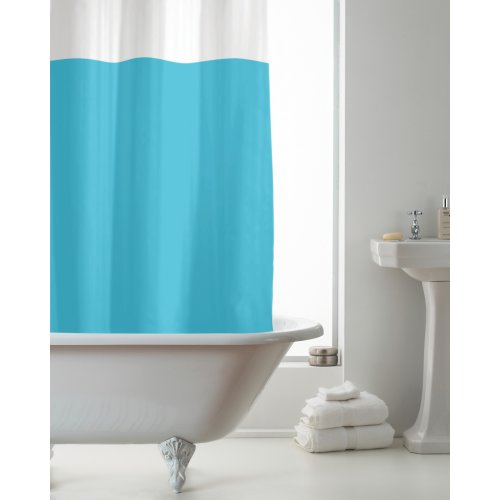 Country Club PEVA Shower Curtain, Blue and Clear