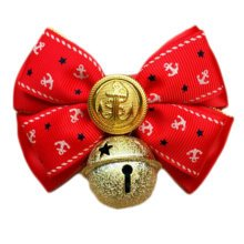 England Style Pet Collar Tie Adjustable Bowknot Cat Dog Collars with Bell-C05