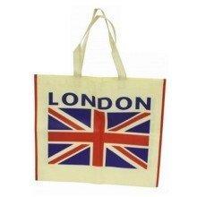London Union Jack Shopping Bag Fabric Lightweight Reusable UK GB Souvenir Gift Flag