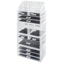 Clear Acrylic Beauty Organiser | Clear Makeup Drawers
