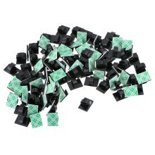 100 Pack Multipurpose Self-adhesive Cable Clips Wire Clips in Home, Office, Car