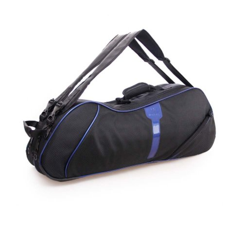 2 Shoulder Straps Waterproof And Dustproof Racket Bag 6 Racquet Bag,Blue
