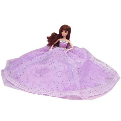 Elegant Dolls Wedding Party Dress Princess Clothes Dolls Outfits for Girl Birthday Gift, G