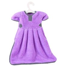 Lovely Princess Dress Hanging Kitchen Bathroom Hand Towel Cloth Towel Absorbent Towel Purple # 11