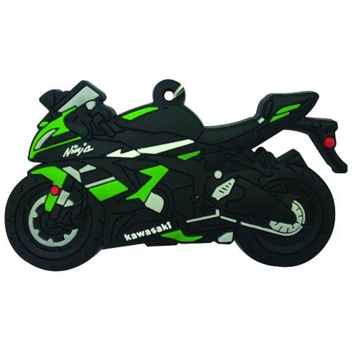 Kawasaki ZX6R rubber key ring motor bike cycle gift keyring chain