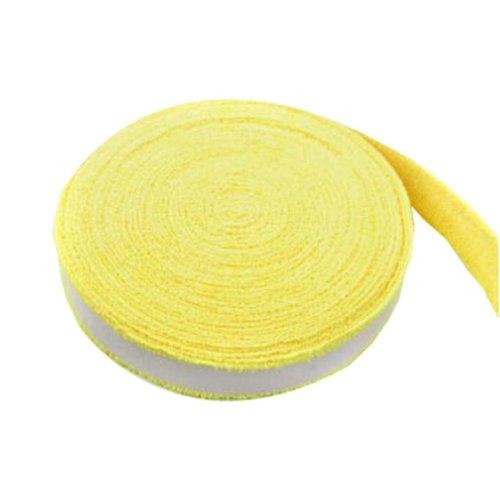 Badminton Crank Handle - Tennis, Badminton Hand Gel  Towel -- Yellow