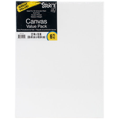 "Studio 71 Stretched Canvas Value Pack 6/Pkg-12""X16"""
