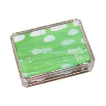 Lovely Stylish Contact Lenses Case Storage Holder Green