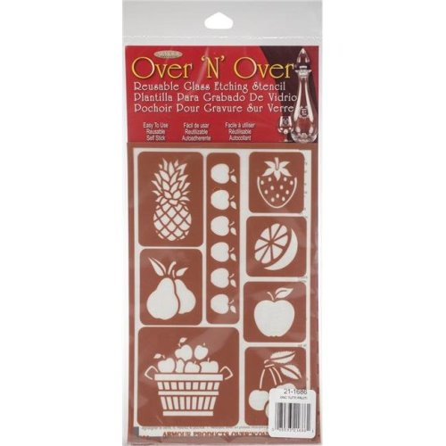 Armour Products GE21-1686 5 x 8 in. Over N Over Reusable Stencils - Tutti Fruiti